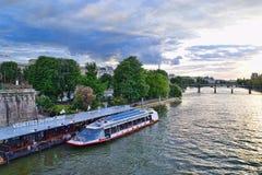 Seine River Cruise Vedettes du Pont Neuf Stock Photos