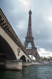 Seine River and Eiffel tower Stock Photos