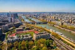 Seine River em Paris fotos de stock royalty free