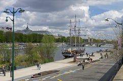 Seine River embankment.  Paris, France. Stock Image