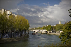 Seine River in Fall Stock Images