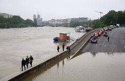 Free Seine River Flood In Paris On June 02, 2016 Stock Images - 72804094
