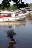 Seine river flood in Paris Stock Photo