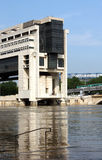 Seine river flood in Paris Royalty Free Stock Images