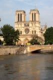 Seine river flood in Paris Stock Images