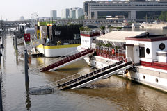 Seine river flood in Paris Royalty Free Stock Image