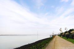 Normandy bridge in Honfleur quay Royalty Free Stock Photos
