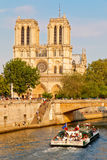 Seine river near Notre Dame Stock Photo