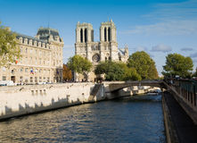 Seine River and Notre Dame Stock Photography
