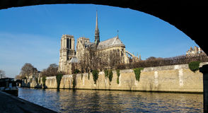 Seine river and Notre Dame Stock Image