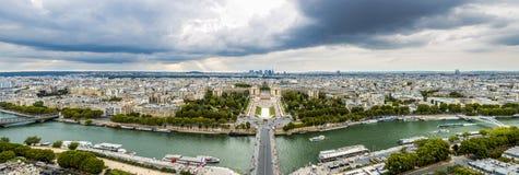 Seine River och Trocadero i Paris Royaltyfri Foto