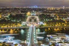 Seine River och Trocadero i Paris Royaltyfria Foton