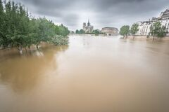 Seine river overflows in Paris