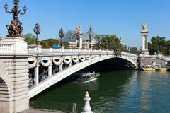 Seine River Paris. Fotografering för Bildbyråer