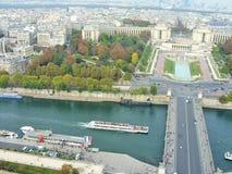 Seine River Paris Arkivfoto