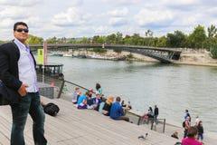 Seine river in Paris Royalty Free Stock Photo