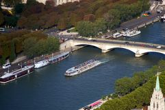 Seine River in Paris Stock Photos
