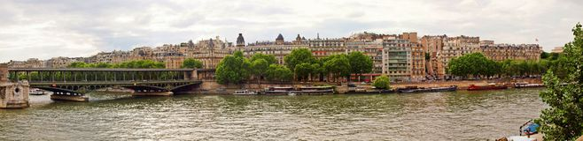 Seine river and Paris city summer view Royalty Free Stock Photo