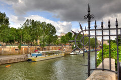 Seine River. Paris, France. stock photography
