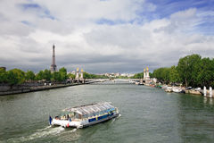 Seine River, Paris, France Royalty Free Stock Photo