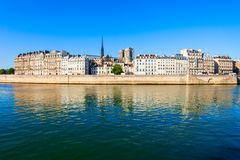 Seine river in Paris, France. Seine river embankment in Paris city in France stock photography