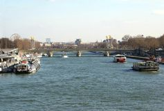 The Seine River in Paris, France, Europe Stock Image