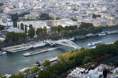 Seine River in Paris France Stock Photography