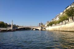 Seine River - Paris - Frankrike Royaltyfria Bilder