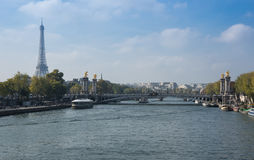 Seine River in Paris Royalty Free Stock Photo
