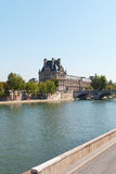 Seine river , Paris. Seine river at Louvre museum, Paris, France Stock Image