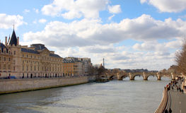 The Seine river in Paris Stock Photo