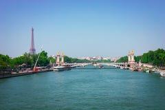 Seine river in Paris Stock Photos