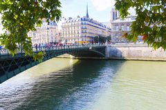 Seine River - Paris. View of Seine River - Paris, France Royalty Free Stock Images
