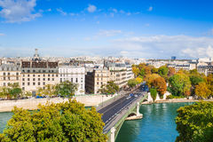 Seine river and Pont de Sully, Paris, France Royalty Free Stock Image