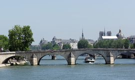 Pont royal bridge in Paris royalty free stock photos