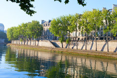Seine river at Saint Lois island , Paris. Stock Photos