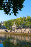 Seine river at Saint Lois island , Paris. Royalty Free Stock Photography