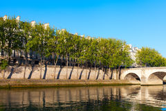 Seine river at Saint Lois island , Paris. Stock Photo