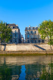 Seine river at Saint Lois island , Paris. Royalty Free Stock Image