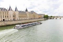 Seine River. Trip on the Seine river - Paris - France Stock Photos