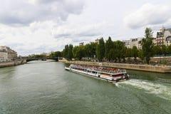 Seine River. Trip on the Seine river - Paris - France Royalty Free Stock Photos