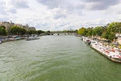 Seine River. Trip on the Seine river - Paris - France Royalty Free Stock Image