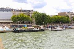 Seine River. Trip on the Seine river - Paris - France Stock Photo