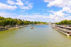 Seine River. Trip on the Seine river - Paris - France Stock Image