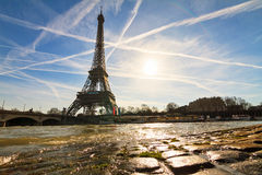 Seine water Eiffel Royalty Free Stock Photo