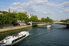 """Seinen i Paris †""""Frankrike Fotografering för Bildbyråer"""