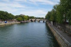 Seinen i Paris - Frankrike - Europa Arkivfoto