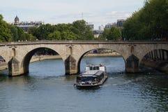 Seinen i Paris - Frankrike - Europa Royaltyfria Foton