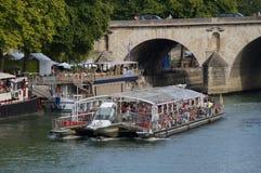 Seinen i Paris - Frankrike - Europa Arkivbild