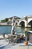 Seinet River i Paris. Royaltyfria Bilder